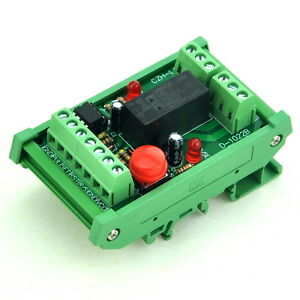 DIN-Rail-Momentary-Switch-Pulse-Signal-Control-Latching-DPDT-Relay-Module-12V