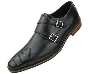 Mens-Double-Monk-Strap-Dress-Shoe-with-Perforated-amp-Burnished-Toe