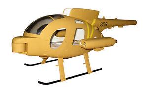 MD 500 Defender pleinement CCA-fuselage 500er Heli zb t-rex Blade heliartist fuselage