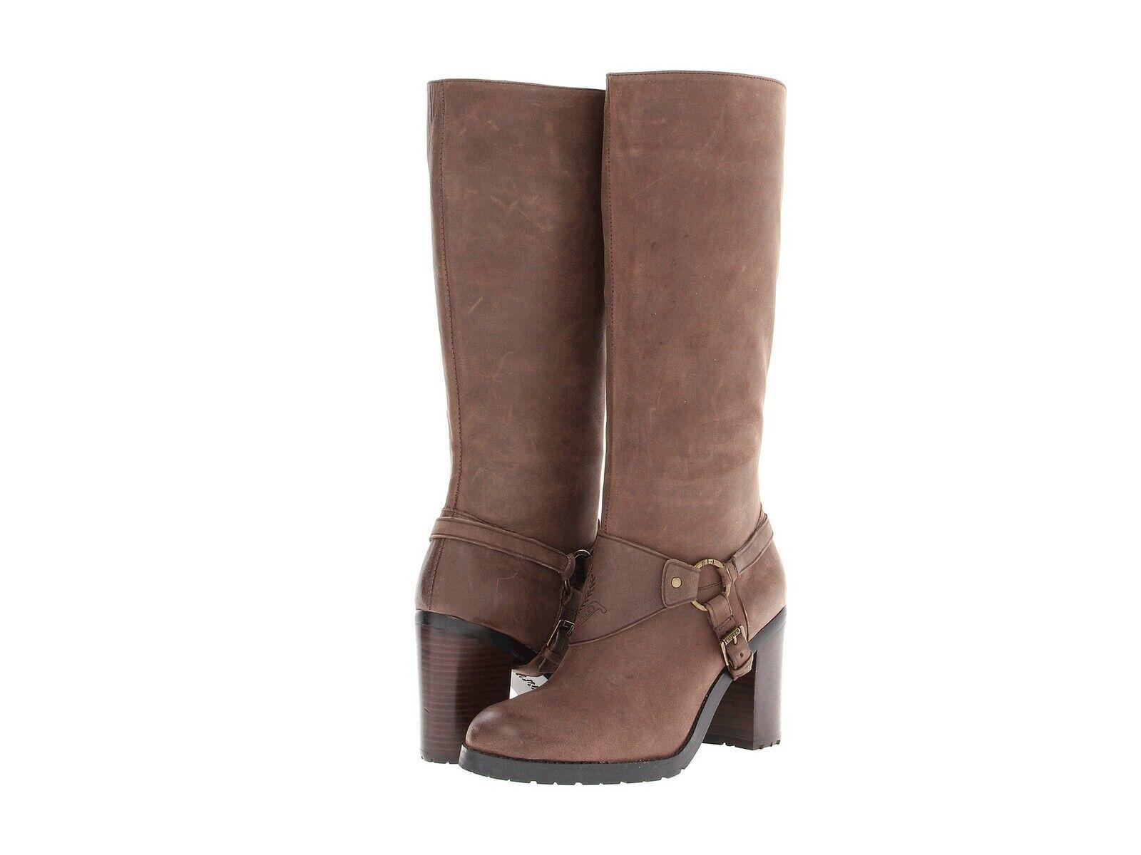 69% OFF RALPH LAUREN Delsa Boots Dark Brown Burnished Suede size 9, 9.5  249