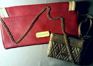 Steve Madden Lot Crossbody Flapover Handbag Wristlet Wallet Long