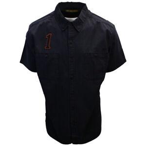Harley-Davidson-Men-039-s-Number-One-Black-S-S-Woven-Shirt-461