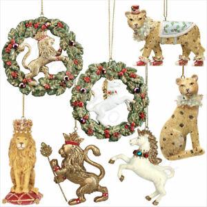 Gisela-Graham-ORO-ANIMALI-IN-RESINA-DA-APPENDERE-Natale-Decorazione-Albero-Natale-Decorazione