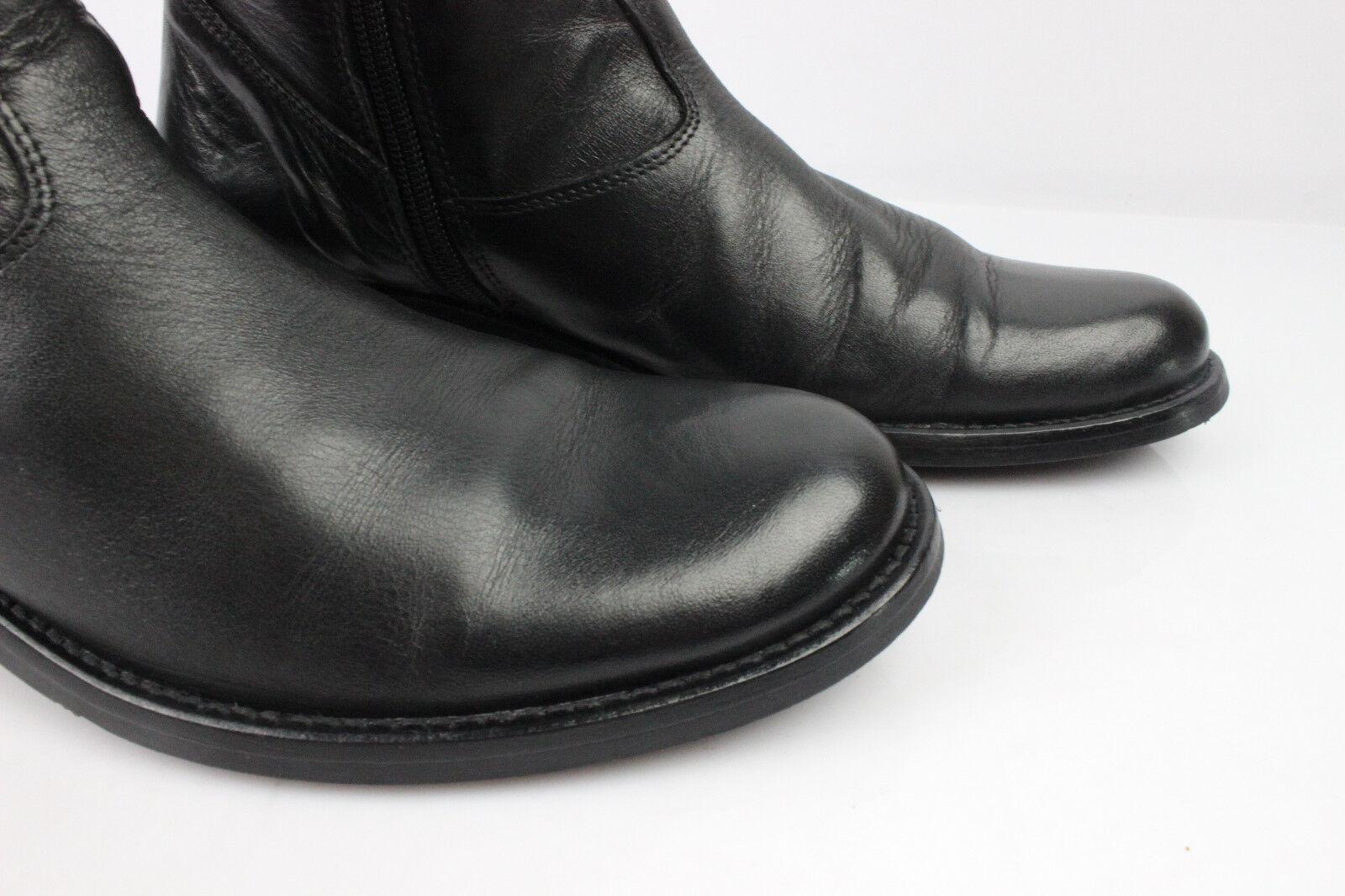 Stiefel t SALAMANDER France schwarzes Leder t Stiefel 36 sehr guter Zustand 8325ab