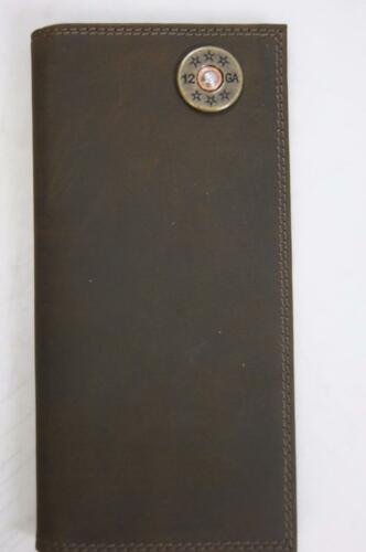 ZEP-PRO SHOTGUN SHELL Crazy Horse Leather LONG Roper WALLET ONLY NO BOX