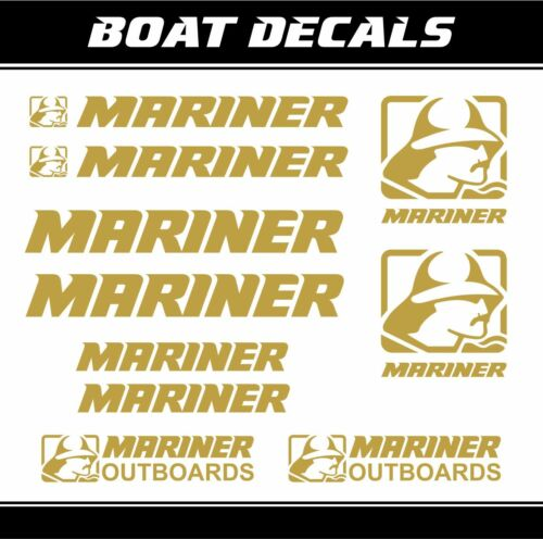 Mariner Outboards sticker engine motor decal mini bagger boat nautical marine