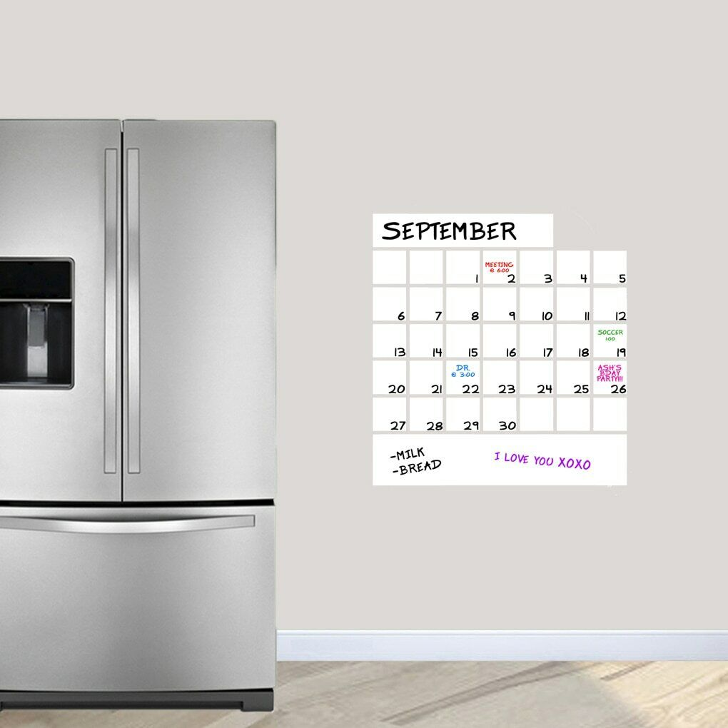 Dry Erase Calendar Wall Decal Decal Decal - Calendar, Organizing, Kitchen, Office 7c31b5