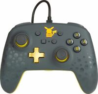 PowerA Pikachu Grey Pokemon Enhanced Wired Controller for Nintendo Switch