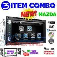 96-06 Mazda Double Din Am/fm Cd Bluetooth Usb Ipod Iphone Aux Car Stereo Radio