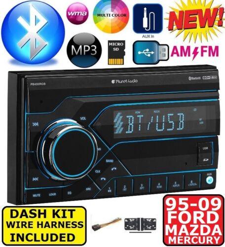 1995-2009 FORD MERCURY MAZDA BLUETOOTH USB AUX Radio Stereo Double DiN