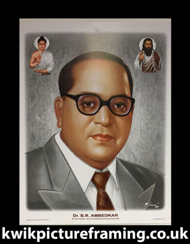 """Dr Br Ambedkar Picture Frame In Size 12/"""" X 9/""""Choices Of Colour For Frame"""