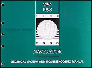 1998 Lincoln Navigator Electrical Vaccuum Troubleshooting Manual Wiring  Diagram | eBay | 1998 Navigator Wiring Diagram |  | eBay