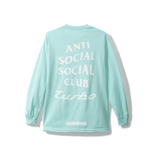DS Anti Social Social Club ASSC x Neighborhood logo 911 Long Sleeve Teal Tee