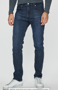 Mens-Wrangler-Greensboro-stretch-straight-fit-jeans-039-Broken-Glass-039-SECONDS-WA151