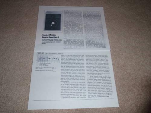 Full Test 1983 Snell Type C//I Speaker Review,2 pgs