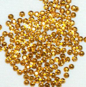 50 perles gros brut 7 200 x 3 mm gold Hotfix Iron On rhinestuds