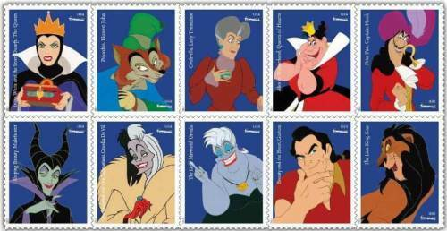 2017 49c Disney Villains, Sleeping Beauty, Block of 10
