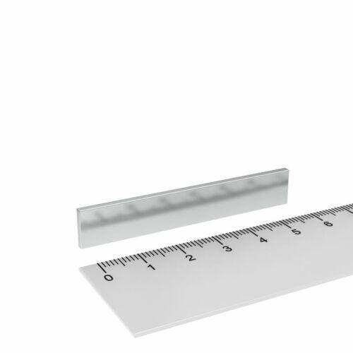 LEISTUNGSSTARK MIT HOHER HAFTKRAFT 20x NEODYM QUADER MAGNET 60x10x2 mm