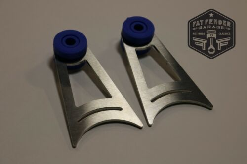 """2 Pack 3.25/"""" Stainless Steel Exhaust Hangers 3/"""" Pipe Weld On Universal Blue"""