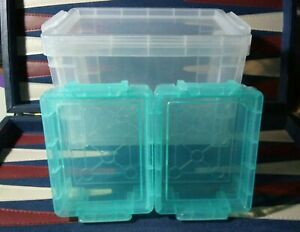 NEW-Baseball-Toploader-Storage-Vault-Combo-2-Vaults-for-Cards-IN-PENNY-SLEEVES