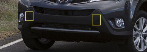Pair Front Bumper Tow Hook Eye Cover Cap for Toyota RAV4 13 14 15