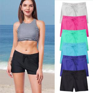 c04c4369098cf Ladies Plain Black or Navy Swim Shorts Bikini Swimwear Boy Style ...