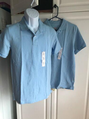 Details about  /2-NEW Boys Cat /& Jack Uniform Shirt XL 16 Light Blue Collar Short Sleeve