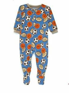 Carter-039-s-Boy-039-s-Size-18-OR-24-Months-Sports-Fleece-Footed-Pajama-Sleeper