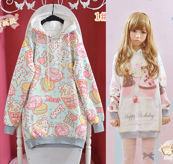 Kawaii Clothing Cute Ropa Sweatshirt Sudadera Hoodie Korean Japanese Unicorn Emo