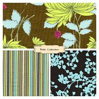 BELLE Corinder Stripe Chrysanthemum Amy Butler Cotton Fabric By the Yard