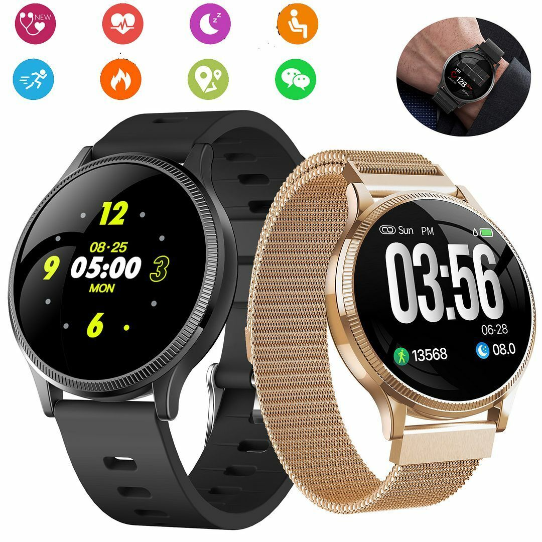 """1.22"""" TouchScreen Bluetooth Smart Watch with Heart Rate Monitor Activity Tracker"""
