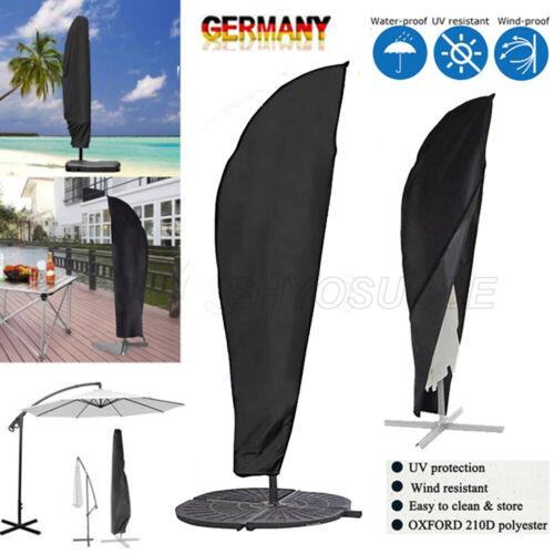 Schutzhülle Abdeckhaube für Ampelschirm Sonnenschirm PVC Wasserdicht Stoff DE