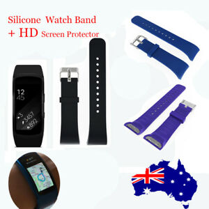 Silicone-Replacement-Watch-Band-Strap-Screen-Protector-For-Samsung-Gear-Fit-2-L