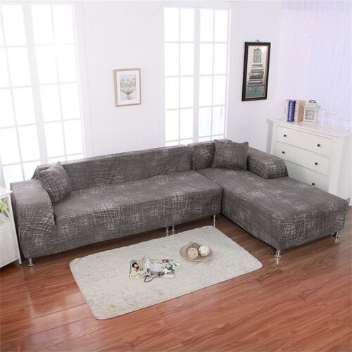 New Sofa Slipcover for Sectional L Shape Stretch Elastic Fabric Sofa Couch Cover