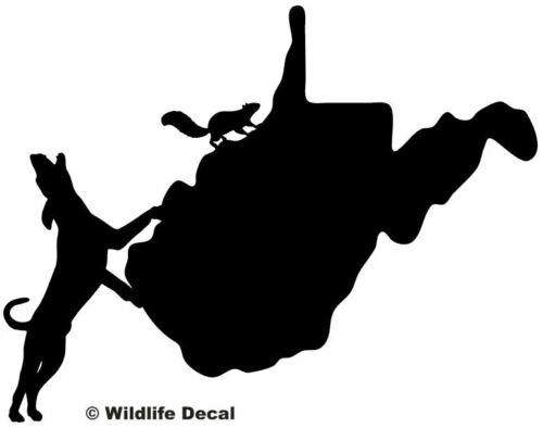 Squirrel Hunting West Virginia State Decals Vinyl Window Stickers