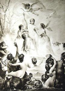 PRETTY-NAKED-NUDE-GIRL-WOMAN-GODDESS-VENUS-BREASTS-Old-1893-Erotica-Art-Print