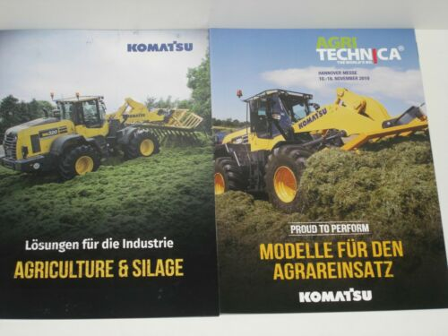 KOMATSU Radlader AGRICULTURE /& SILAGE agritechnica 2019 Prospekte 39