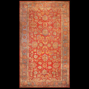 Antique Oushak Rug 10 4 X 19 Ebay