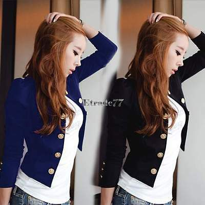 New Fashion Women's Button Slim Casual Business Blazer Suit Jacket Coat Outwear