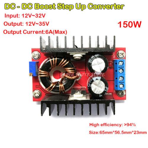 150W 6A DC Converter Boost 12V-32V to 12V-35V Adjustable Step-up Supply Module