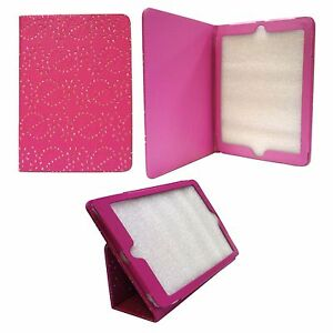 CASE-FOR-APPLE-IPAD-AIR-HOT-PINK-DIAMOND-BLING-GLITTER-PU-LEATHER-COVER