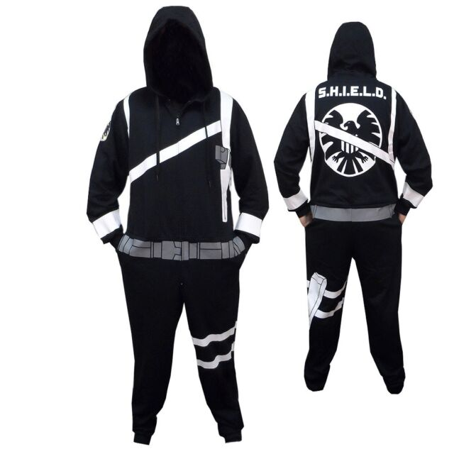 Marvel Agent Of Shield Avengers Comics Adult One Piece Hooded Pajama S-XXL