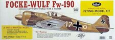 "Guillows 406 LC Balsa Wood Focke-Wulf Kit Scale 3/4"" to 1'=1/16 New Sealed Box"