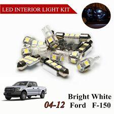 10 pcs White LED Light bulbs Interior Package Kit for Ford F-150 F150 2004-2012