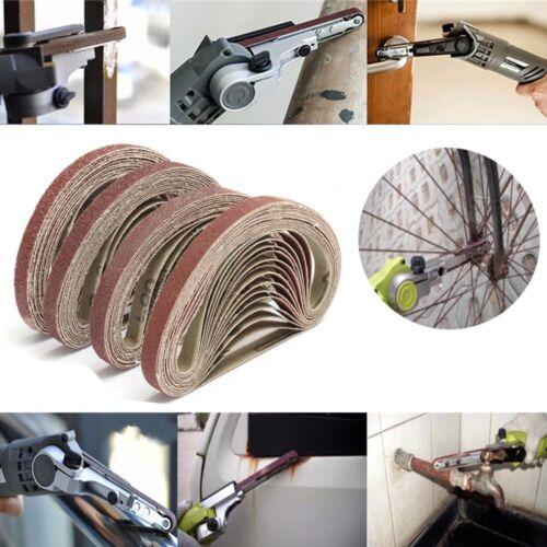 "70pcs 7Grits Sanding Belts 3//8/""x13/"" Grinding Aluminium Oxide Sander 40-320 Grit"