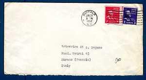UNITED STATES - USA - Busta - 1952 - Da Buffalo a Murano-Venezia. E3371
