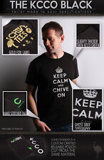 the Chive *Authentic* Keep Calm and Chive On BLACK *RARE* KCCO L