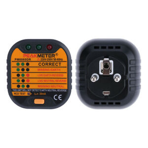 Automatic Electric Socket Tester Diagnostic-tool Neutral Live Earth Wire Testing CoûT ModéRé