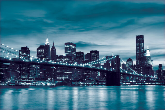 WALL MURAL PHOTO WALLPAPER PICTURE New York City Urban Brooklyn Bridge P