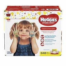 Huggies Simply Clean Soft Baby Wipes, Unscented, 648 Count
